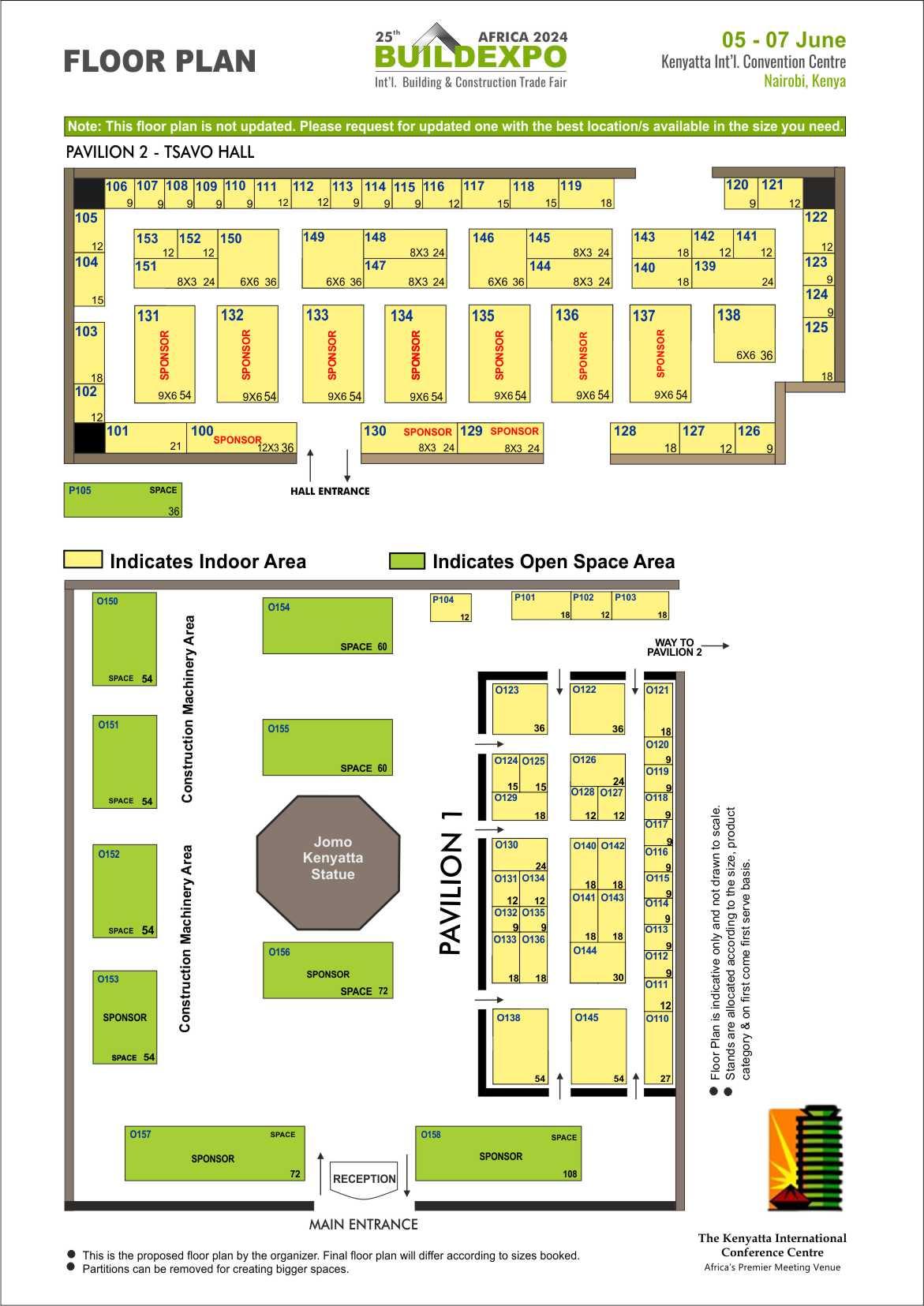 Floor plan for construction trade show buildexpo kenya 2019 for Trade show floor plan
